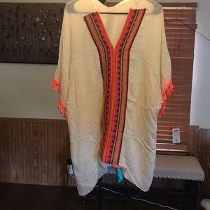 Tops - Cream and bright colored cardigan